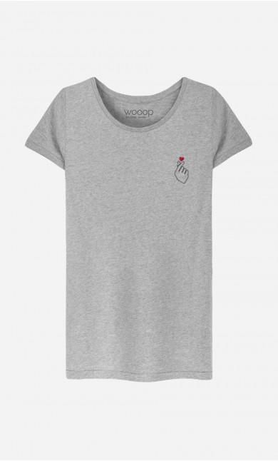 T-Shirt Femme K-Love - Brodé