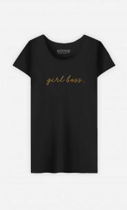 T-Shirt Femme Girl Boss  - Brodé