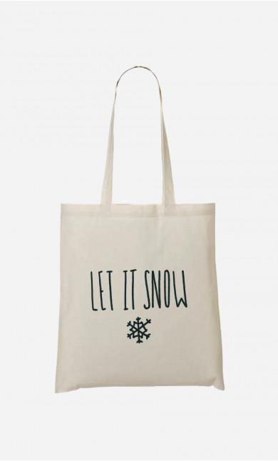 Tote Bag Let It Snow