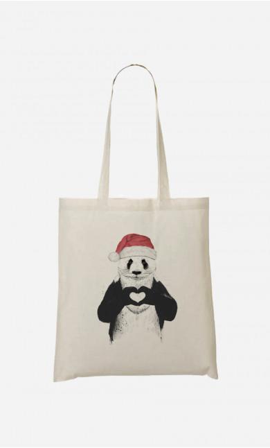 Tote Bag Santa Panda