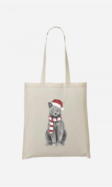 Tote Bag Xmas Cat