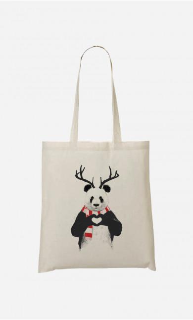 Tote Bag Xmas Panda