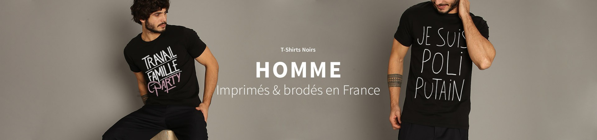 T-Shirts Noirs