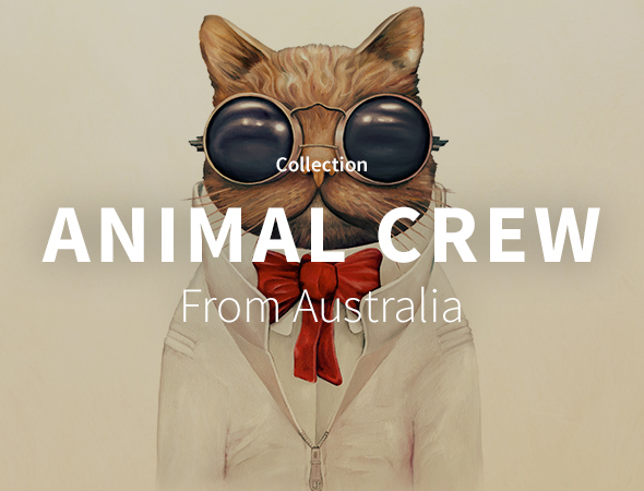 Retrouvez les T-Shirts, Sweats, Tote Bags de la collection Animal Crew sur l'artshop Wooop