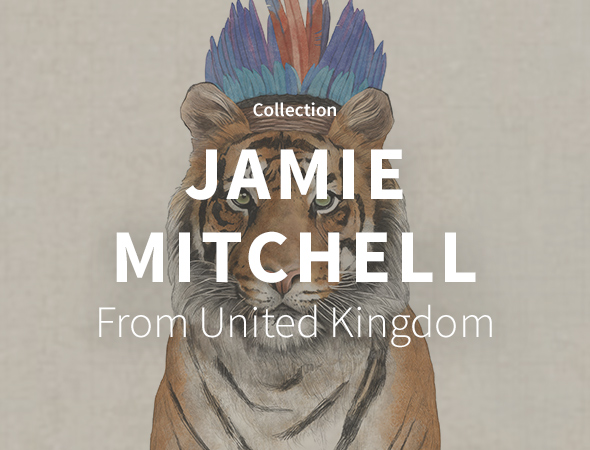 L'artiste Jamie Mitchell et sa collection wild animal, funny animal, jungle look