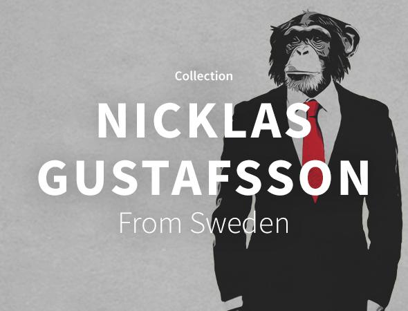 Un business monkey et d'autres créations classes et originales sont présentes sur l'artshop de Nicklas Gustafsson