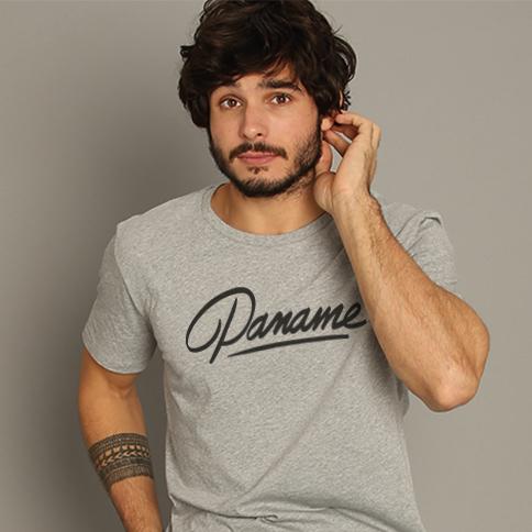 T-shirt Gris Homme Paname